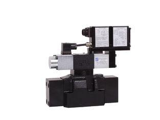중국 DPZO DL5 유압 비례적인 벨브 조종사 O는 비례 스풀 자동 귀환 제어 장치를 L5 = 선형 perated 협력 업체